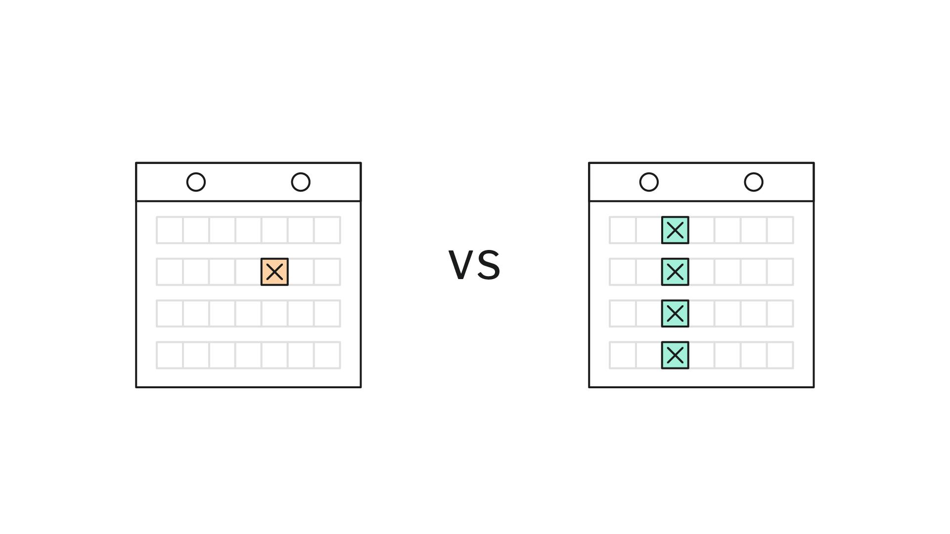Deux impératifs de calendrier différents