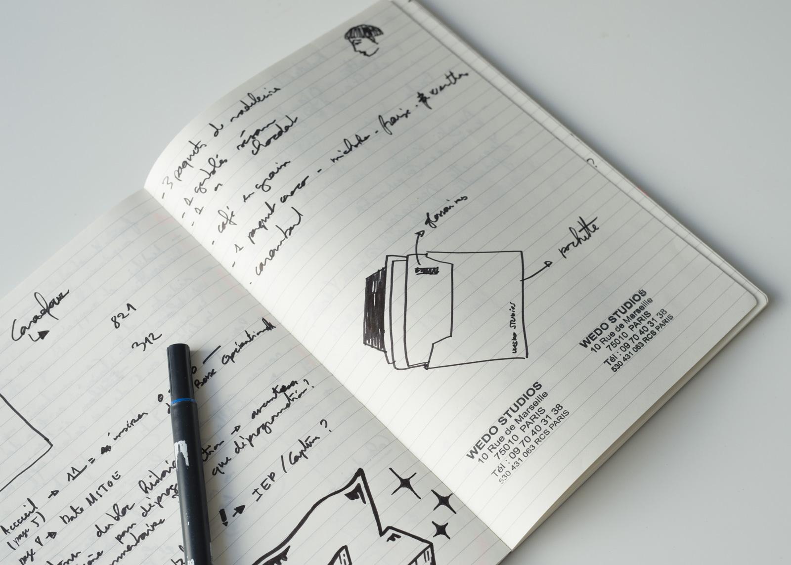 Carnet design Ideation