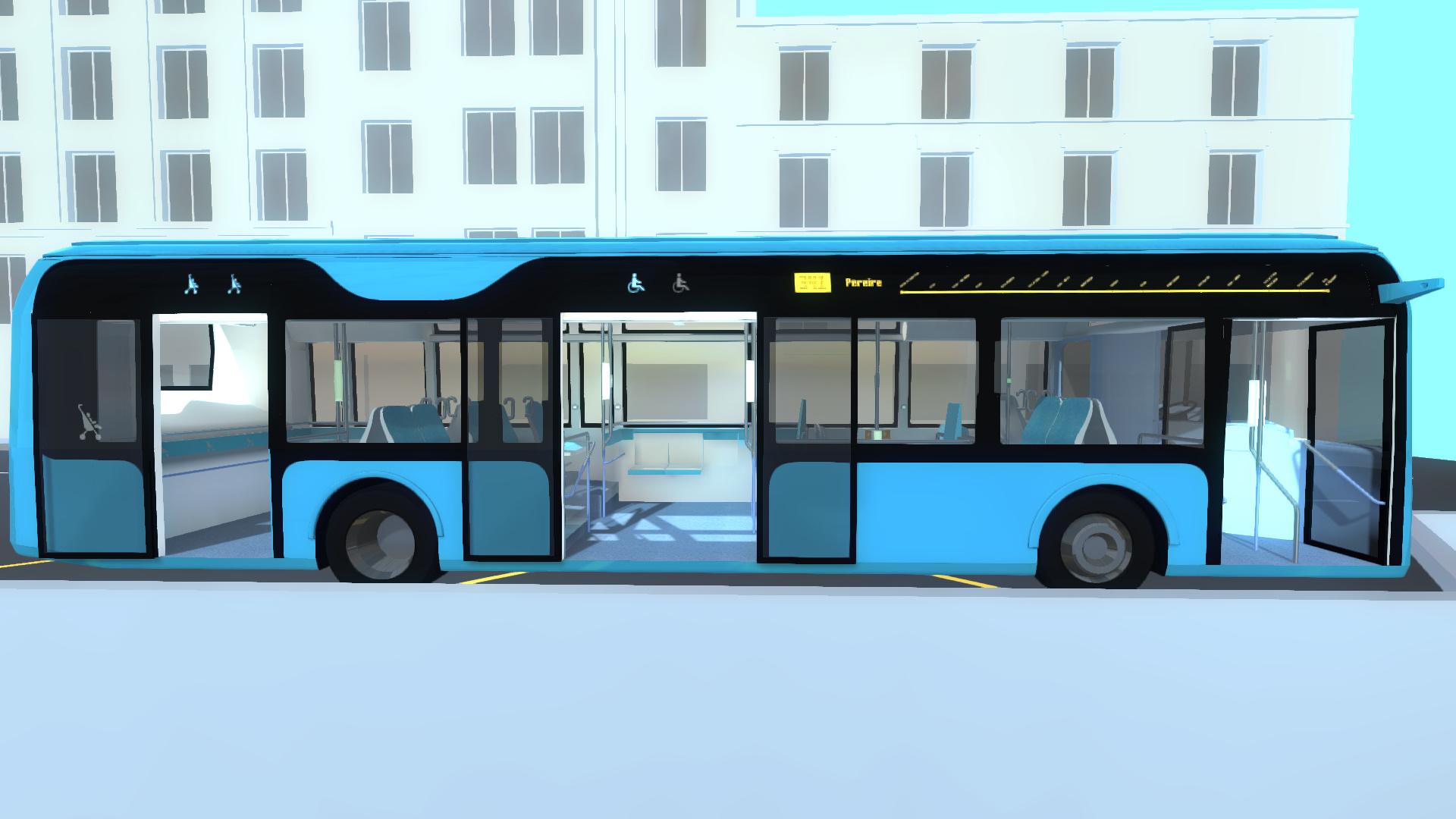 visite virtuelle en 3D du bus RATP (extérieur)