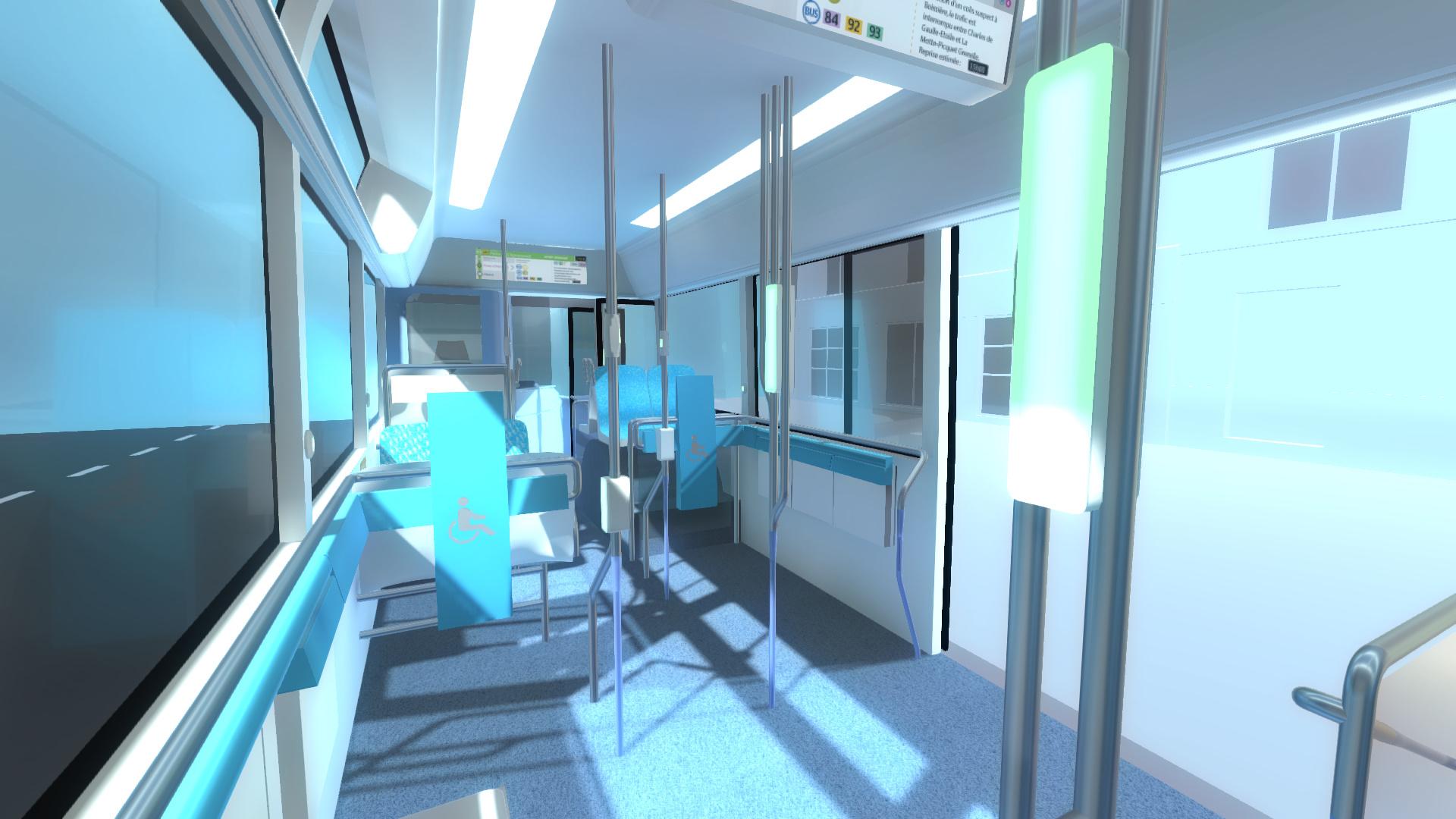 visite virtuelle en 3D du bus RATP (intérieur)