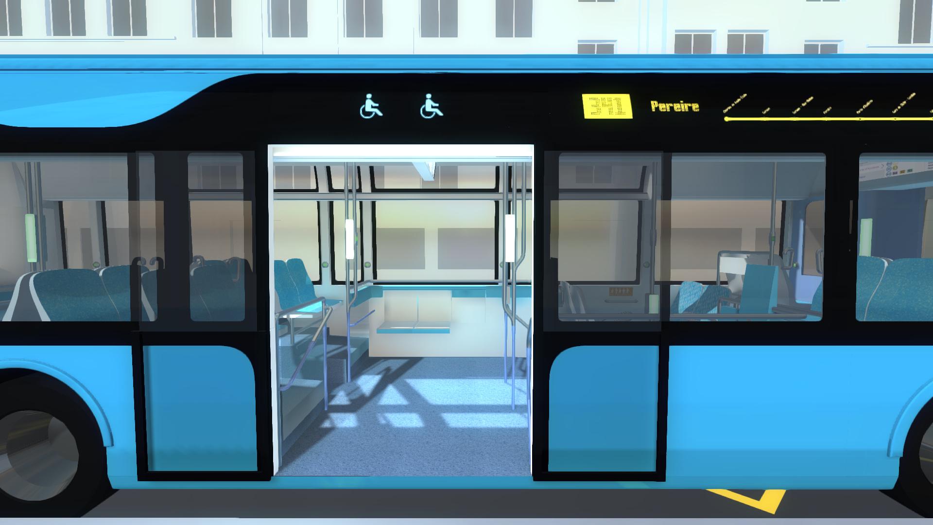 visite virtuelle en 3D du bus RATP ( porte extérieure)