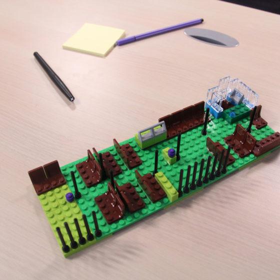 Maquette en Legos d'un bus